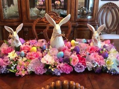 Dollar Tree Easter Floral Centerpiece DIY