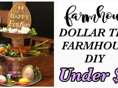 Dollar Tree FARMHOUSE DIY! 3 Tier Stand! Under $5