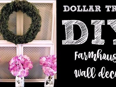 FARMHOUSE WALL DECOR   DOLLAR TREE DIY