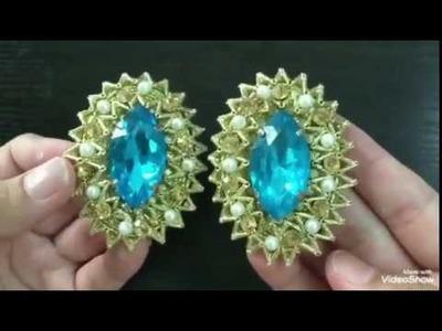 Gota jewelry part 2    Handmade Gota Earrings tutorial