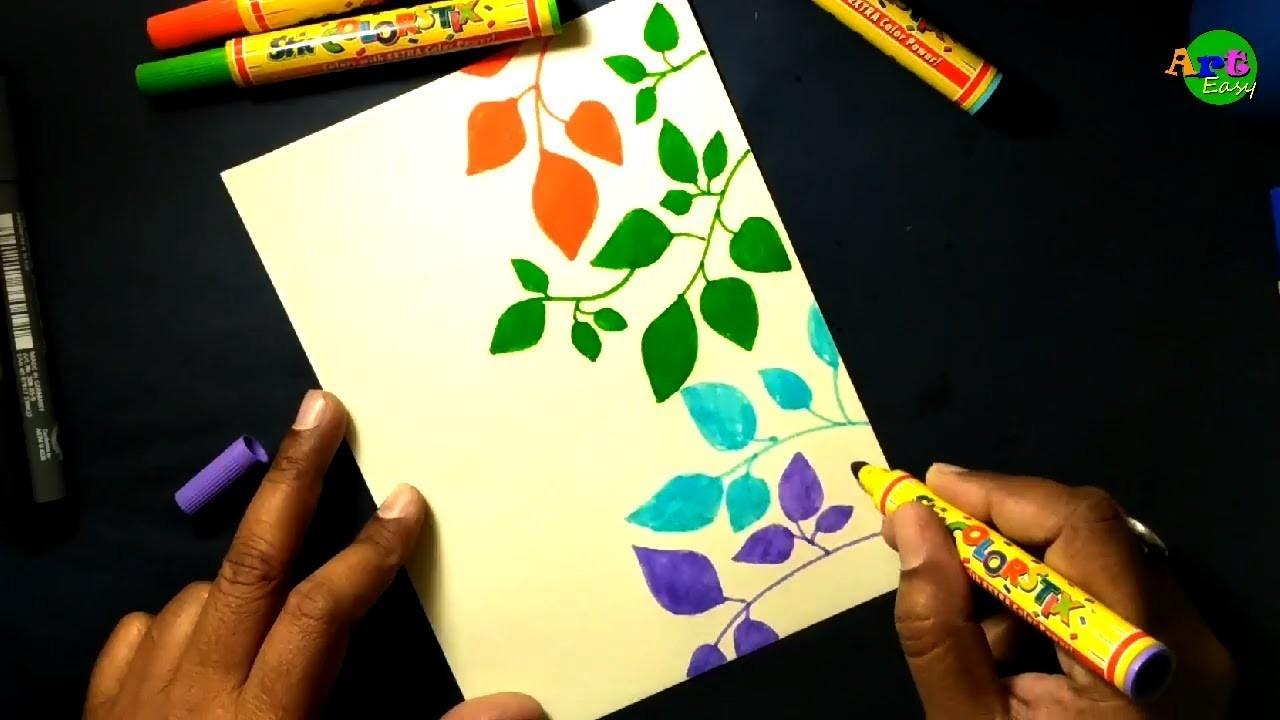 Handmade Birthday Card Drawing Art Easy