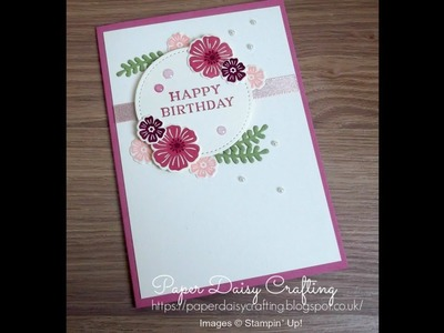 Handmade card tutorial using Beautiful Bouquet from Stampin' Up!