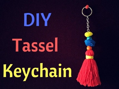 How to make DIY Tassel Keychain || How to make a yarn tassel for Mother's day
