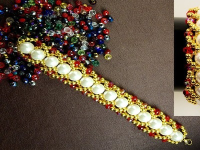 How to make easy bracelet at home by Pearl beads