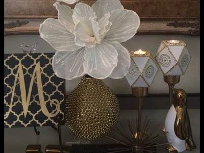 How To Make Glam Fab Bling Out Dollar Tree Diamond Shape DIY Candle Holders Creating Elegance 2018
