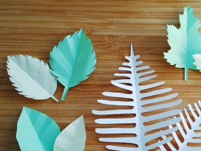 How to make paper leaf | Maple Leaf | Fern leaf |  Rose leaf | Origami