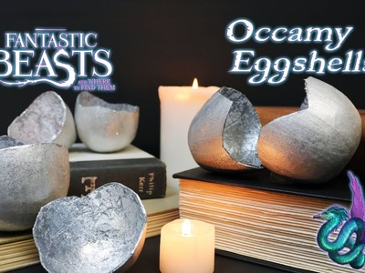Occamy Eggshells : DIY Movie Prop : DIY Silver Occamy Eggs : Fantastic Beasts and Where to Find Them