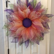 Orange/Purple wreath