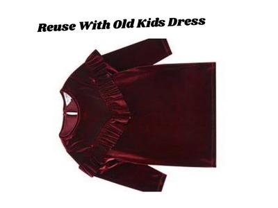 Wardrobe organiser with old kids dress | Useful DIY Idea for everyone