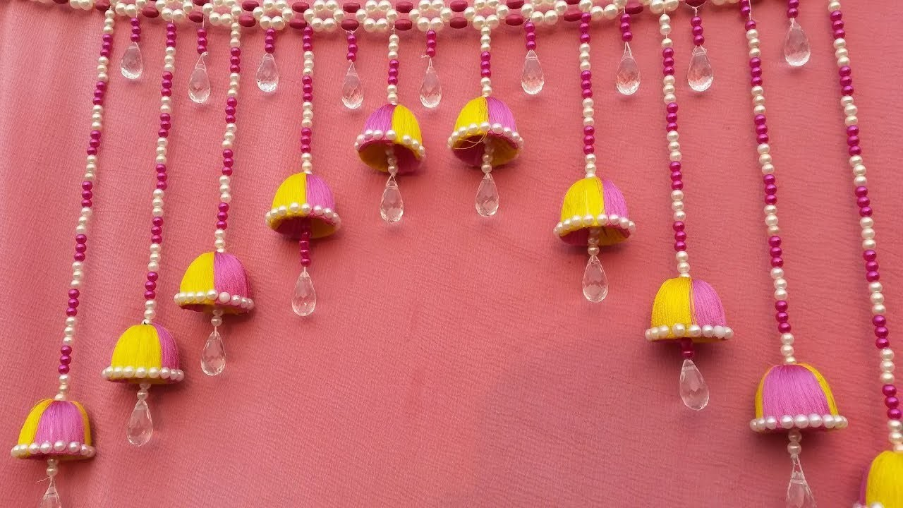 Amazing! Beaded Wind Chime || How To Make Door.Wall Hanging Wind Chime For Home Decor || DIY Ideas