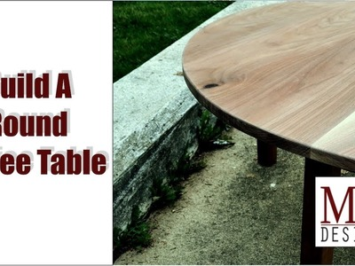 Build a Round Coffee Table. Woodworking How To