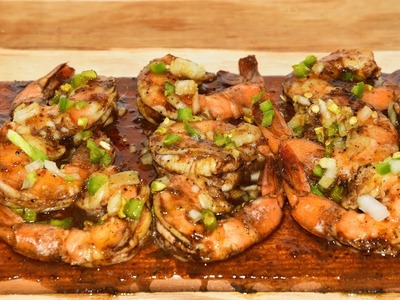 Caribbean Jerk Grilled Shrimp - How To Grill Shrimp On A Cedar Plank