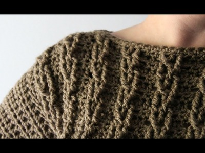 Crochet Cable Sweater by YarnHookNeedles | crochet cables | crochet sweater