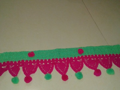 Crochet  door  Toran design  -10  how to make it  Part - 2 ! Omi khatoon!