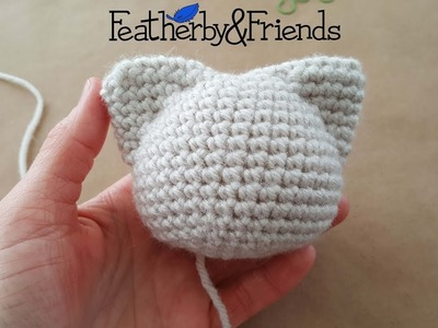 Defining Ears on the Pointy Head - Crochet Tutorial