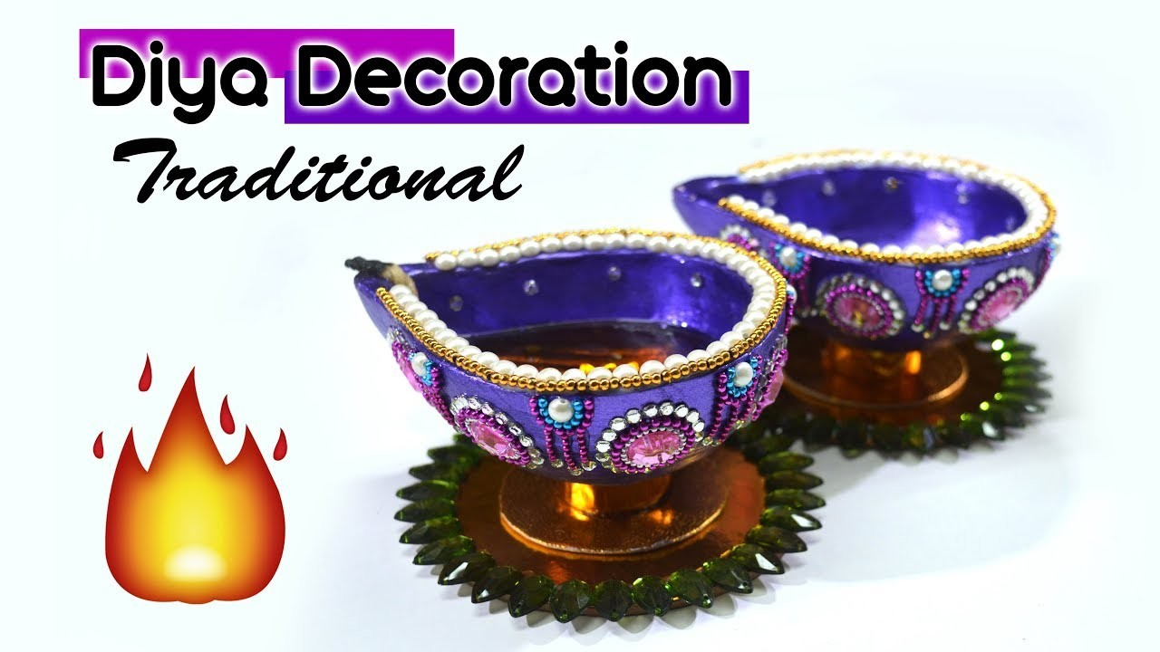 Diwali Special????⚡ | How to decorate traditional Diya At home | Diwali Decoration