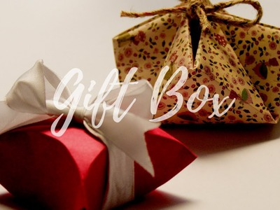 DIY: 2 Easy Gift box Idea | How to make Gift Box for Christmas | Easy Box for Gift | Easy craft