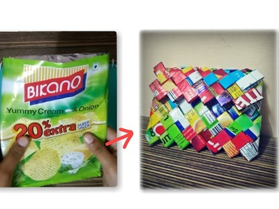 DIY candy wrapper wallet | how to make wrapper wallet | DIY WRAPPER PURSE