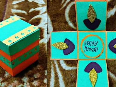 "DIY Diwali Card|How to make ""Mini Exploding Box"" for Diwali | #20"