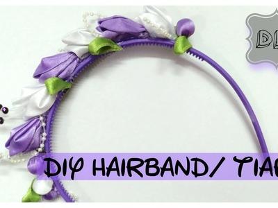 DIY hairband. hairtie. tiara || how to make a hairband ||  ||TIARA WEEK||