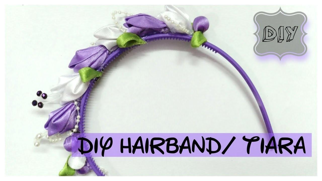 DIY hairband. hairtie. tiara    how to make a hairband       TIARA WEEK  