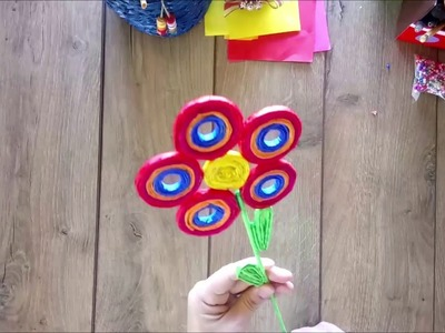 DIY How to make a decorative eye flower tutorial