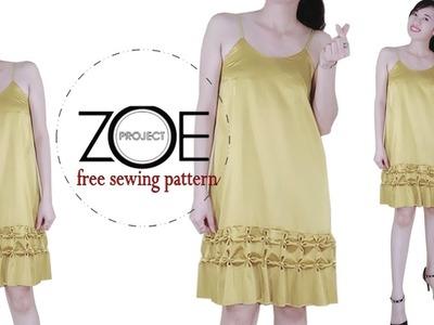 DIY how to sewing slip dress ????| Zoe DIY