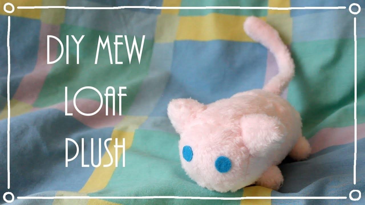 ❤ DIY Miniature Mew Loaf. Stacking Plush! How To Make A Cute Pokemon Plushie! ❤