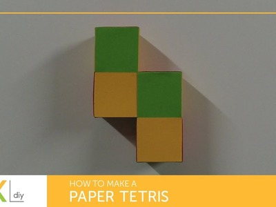 DIY Paper crafts #9 - How to make a paper tetris I