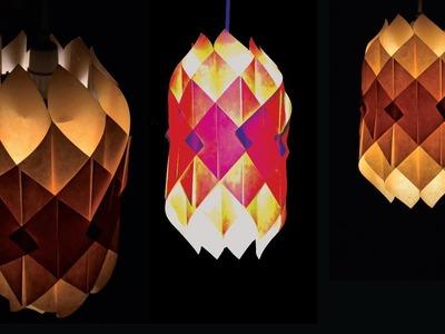 DIY-paper lamp.lantern -how to make a lantern light out of paper-how to make a paper lampshade (4k)