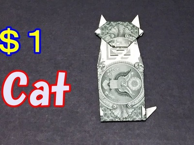 Dollar Bill Origami Cat - Easy Instructions How to Fold a Cat out of Money