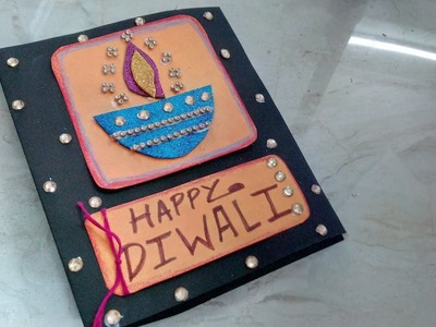 Easy Diwali Greeting Card Making Idea | How To | CraftLas