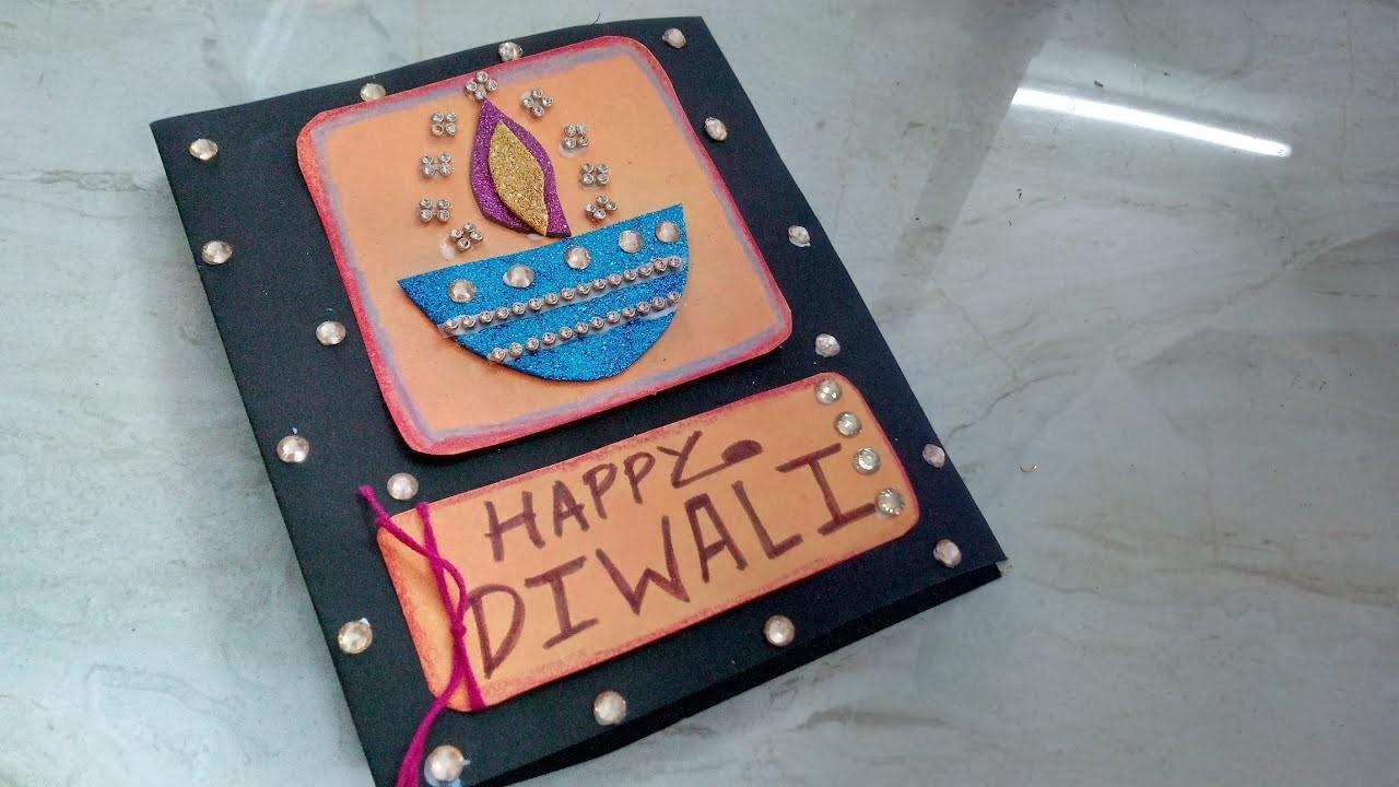 Easy Diwali Greeting Card Making Idea | How To | CraftLas