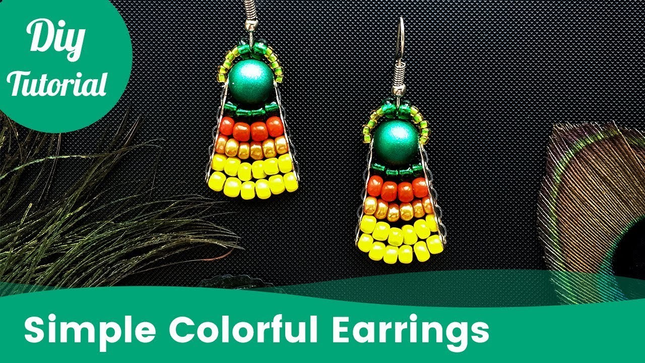 Easy Earrings. How to Make Colourful Handmade Earrings at Home [Eng Subs]
