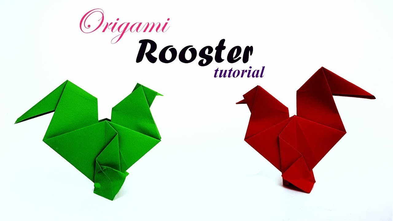 easy easter origami rooster tutorial how to make an