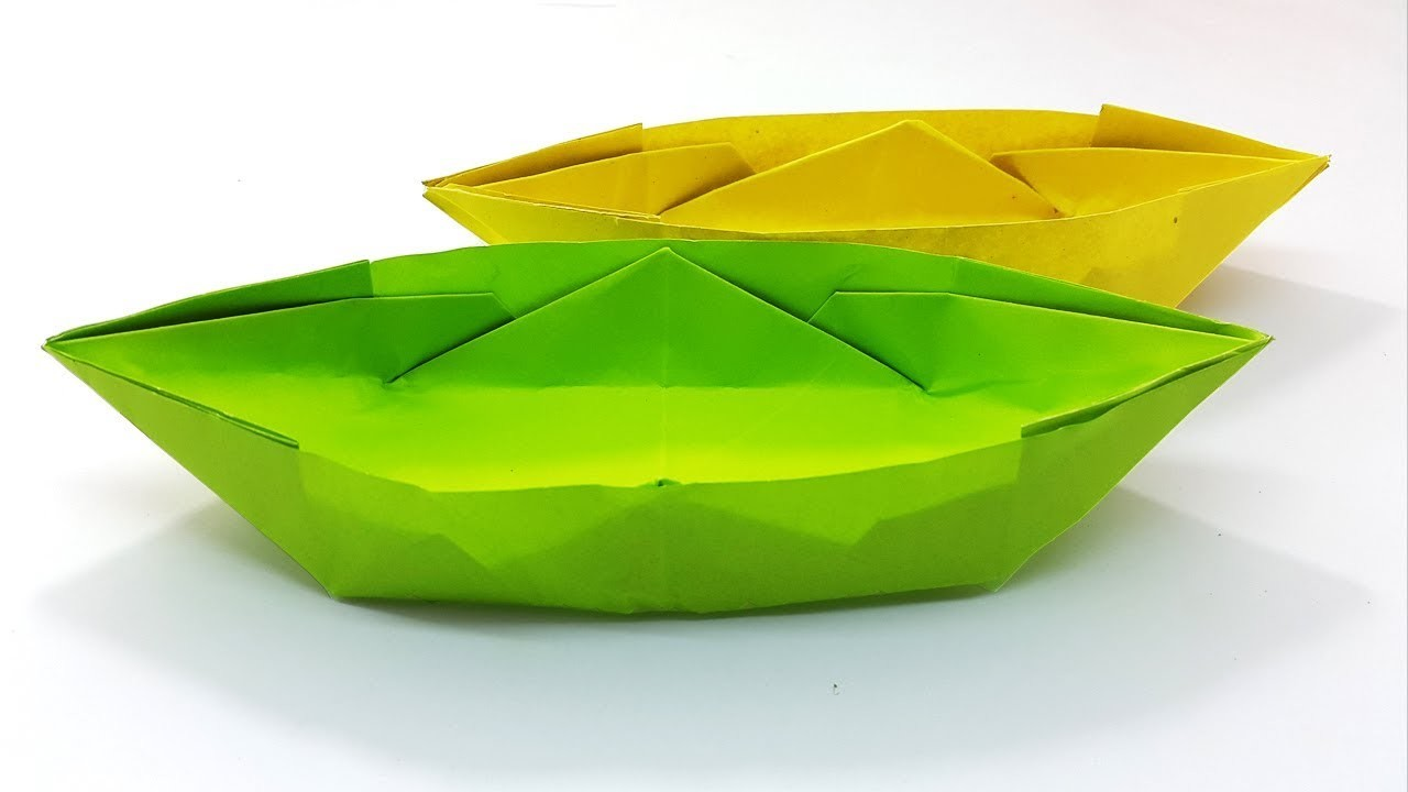 easy sampan boat instruction how to make a paper boat