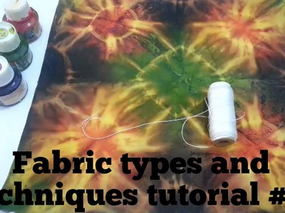 Fabric Painting techniques # 3. Scarf method. Silk painting. How to.  & Easy to. .