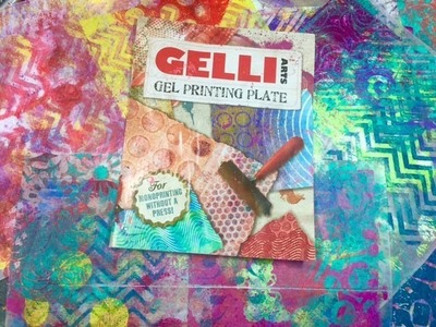 Gelli Arts Gel Printing plate and how I make my prints