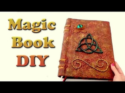 Halloween crafts   how to make a magic book - crazy about diy