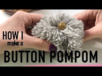 How I make a Button Pompom on my Hat  ❤  TUTORIAL  ❤  knitting ILove
