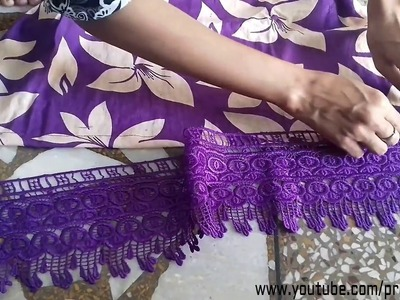 How to Attach Lace on Kameez, Kurti, Bottom on the kameez