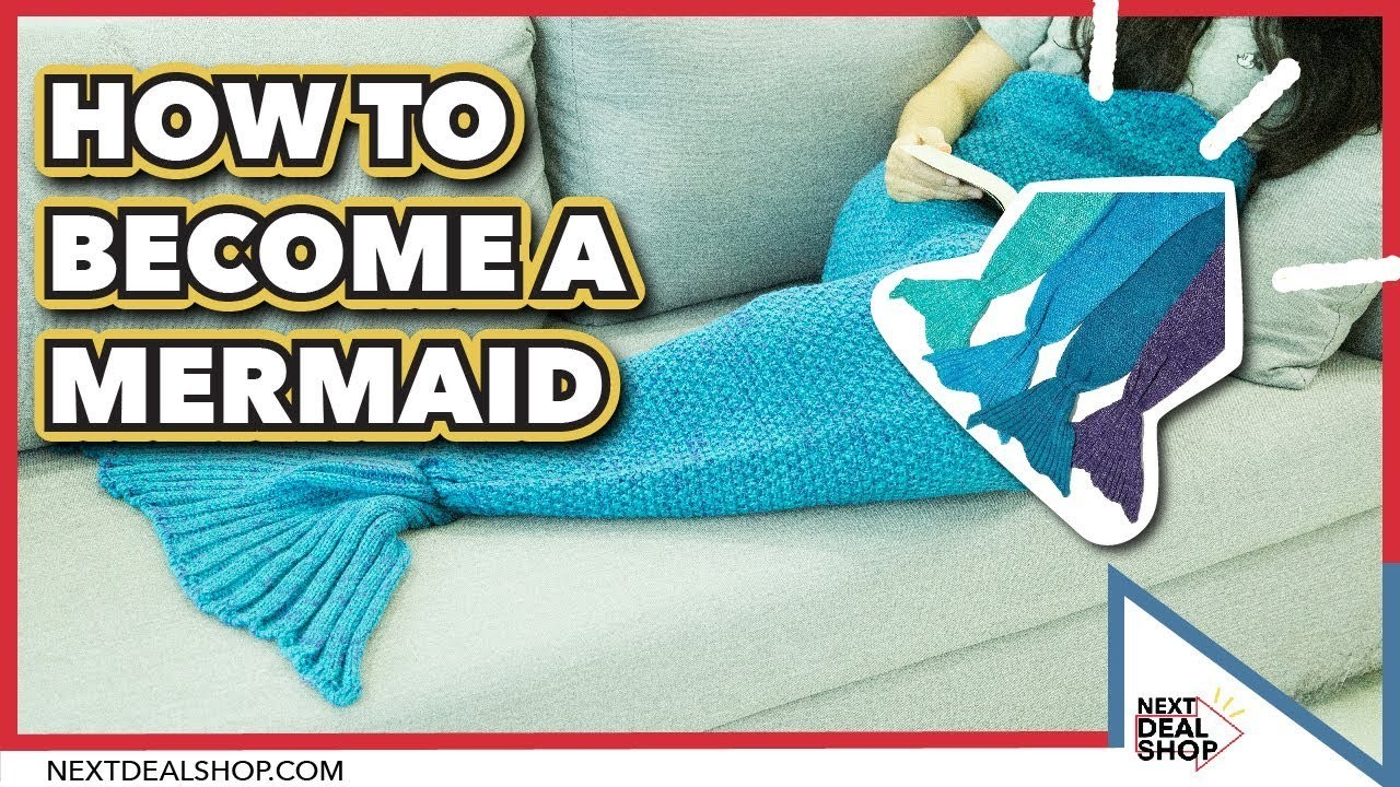 How To Be A Mermaid - Hand Knit Mermaid Blanket - Next Deal Shop