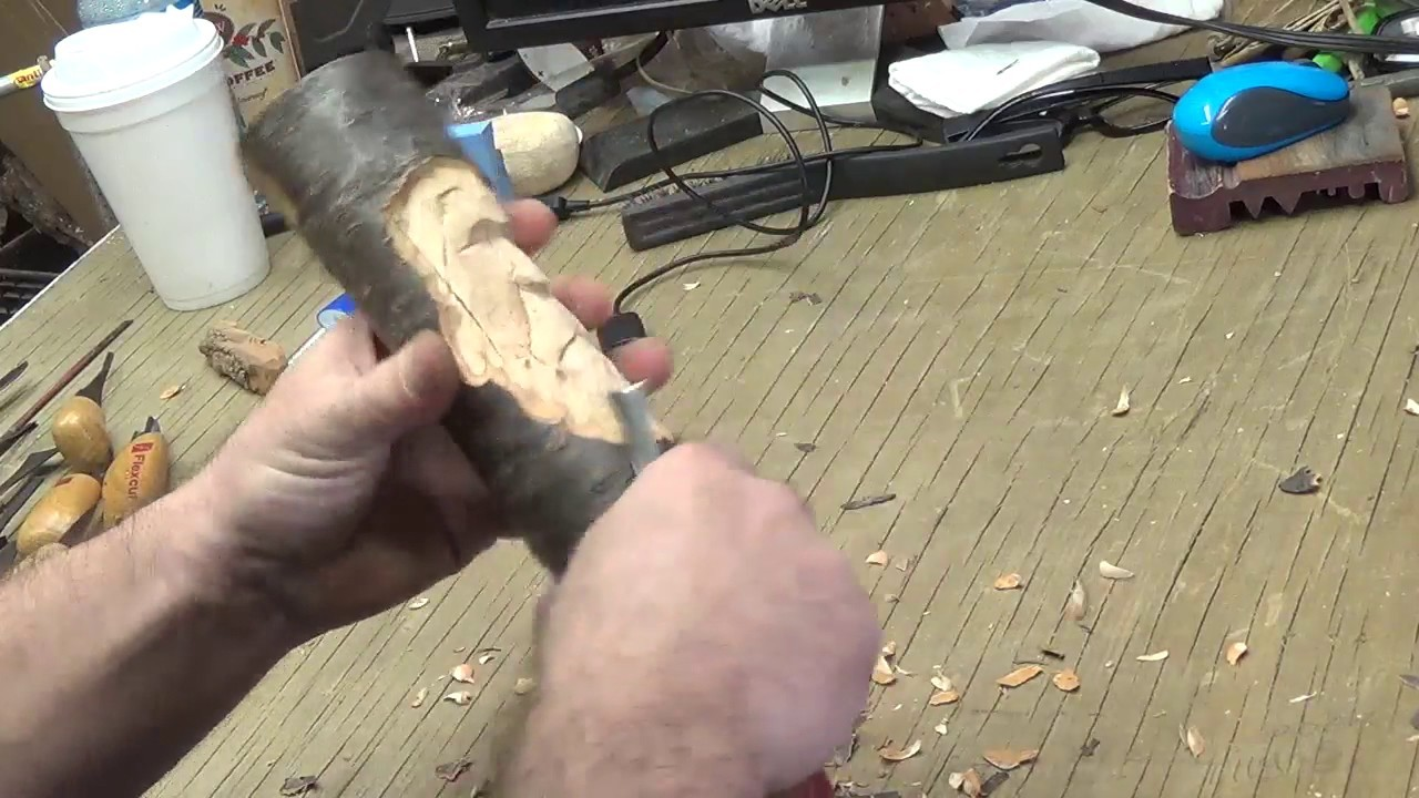 How to Carve a Wood Spirit With Hand Tools Part 3.