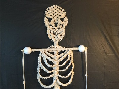 HOW TO CREATE - MACRAME SKELETON FOR HALLOWEEN