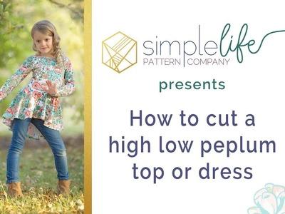 How to cut a high low peplum top circle skirt dress