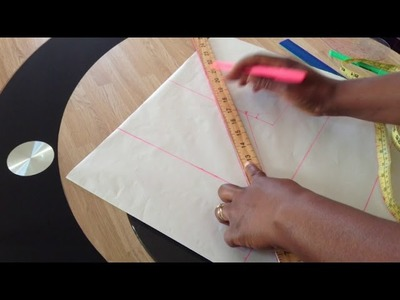 How to cut padded princess dart blouse.top (fitted)
