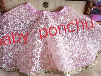 How to cut & stich pom pom ponchu