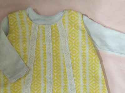 How to cutting & stitching ALine baby girl shirt style idea