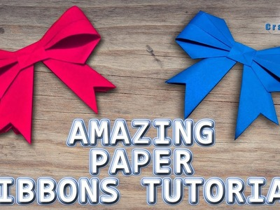 How to fold a paper Bow.Ribbon | Origami bow for gift box decoration | Kirigami | Lina's Craft Club