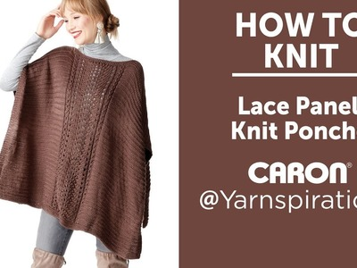 How to Knit: Lace Panel Poncho